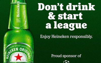 Gros coup marketing pour Heineken qui moque la Super League